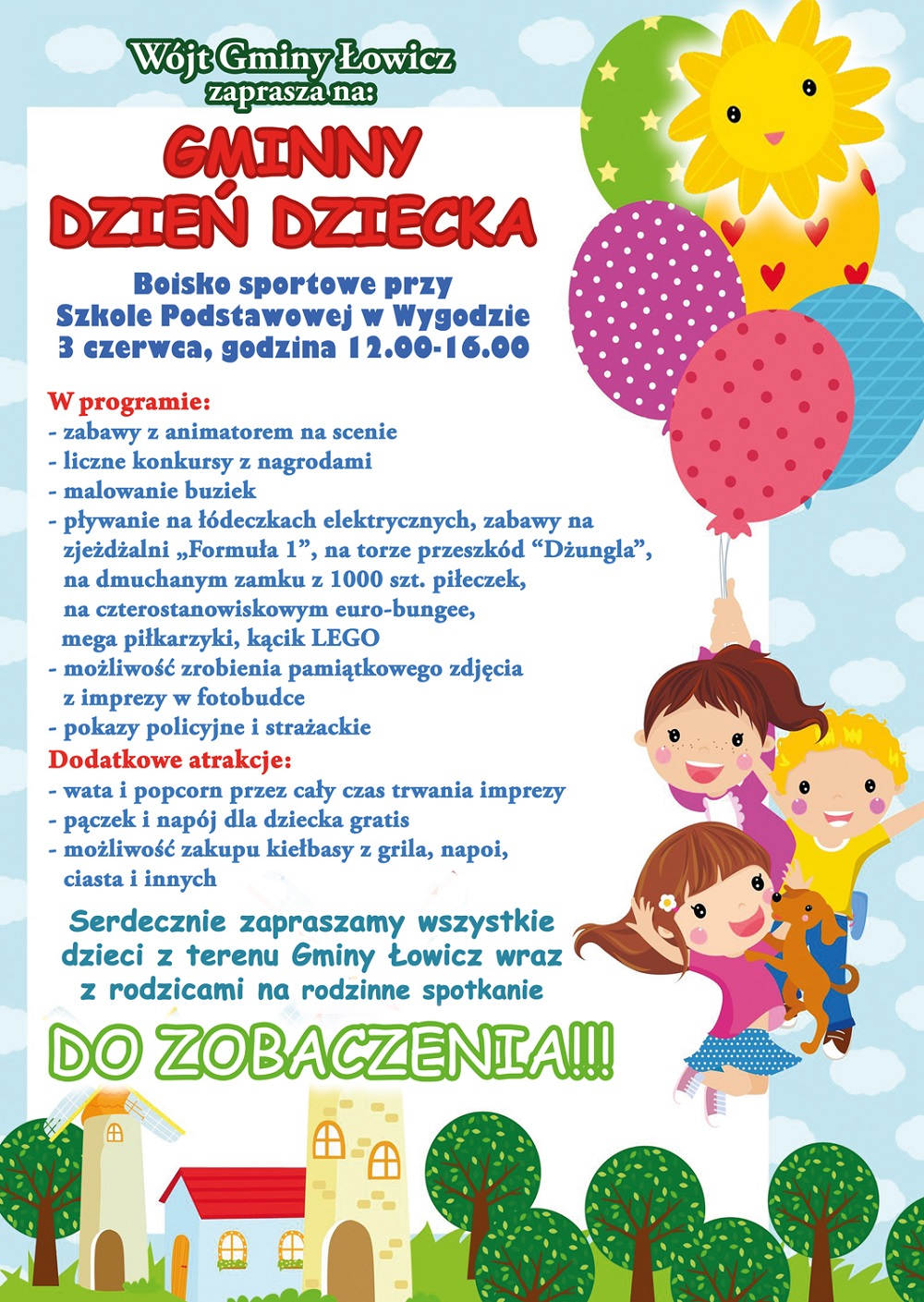 Zapraszamy na Gminny Dzień Dziecka